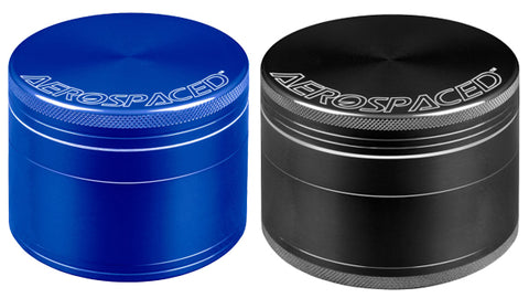 Aerospaced 4pc Herb Grinders, Blue and Black - NZ