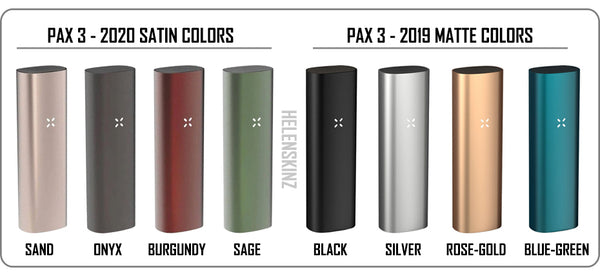 All 8 Pax 3 colors available Helenskinz NZ