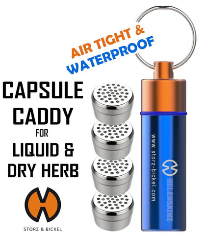 Capsule Caddy NZ with Liquid & Dry Herb Capsules NZ