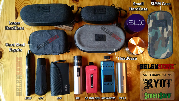 Click to Expand Image - Comparison of RYOT Vaporizer Case Sizes with Vapes NZ