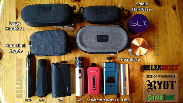 Comparison Photo - RYOT Cases vs Vaporizers