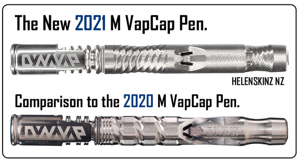 DynaVap VapCap 2021 M Pen comparison to 2020 M NZ