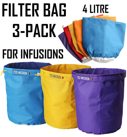 Infusion Filter Bag Kits - 3-Pack Helenskinz NZ