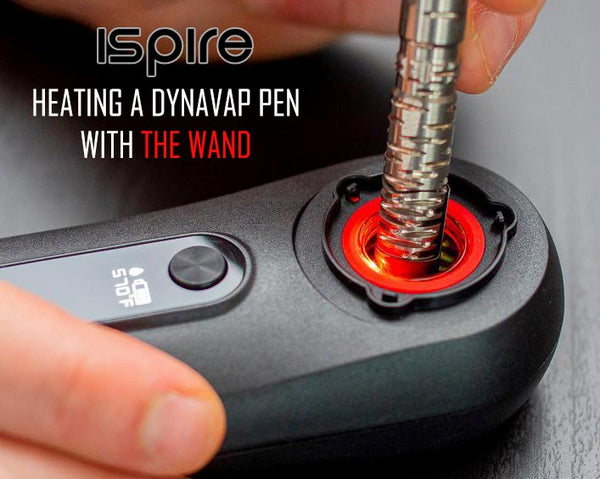 Heating a DynaVap VapCap Pen with The Wand by Ispire NZ