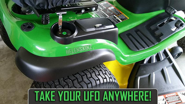 Lawn Mowing on Ride-On Mower with UFO Induction Heater NZ