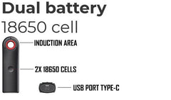 Dual 18650 Batteries for The Wand NZ
