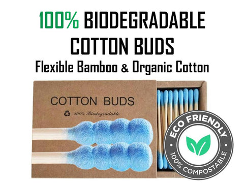 Ribbed Bamboo Stick Cotton Buds for Cleaning Herbal Vapes NZ