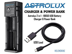 Astrolux USB Battery Charger for Vapes NZ