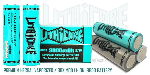 Lithicore 18650 3000mAh Herbal Vape Battery NZ