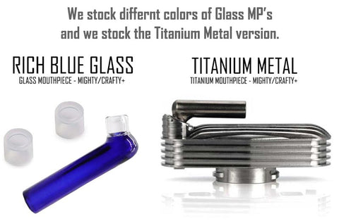 Glass & Titanium Mouthpieces Mighty Crafty Vapes NZ