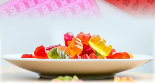 Plate of Infused Gummy Bears