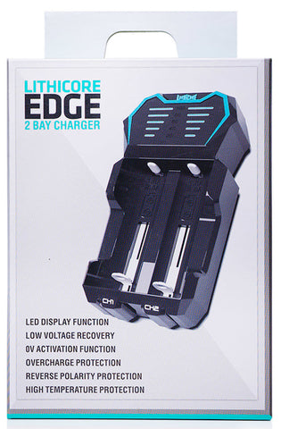Lithicore Edge 2 - Dual Slot 18650 Battery Charger NZ