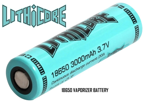 Lithicore 18650 3000mAh Vaporizer Battery.