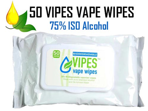 VIPES Biodegradable Herbal Vape Cleaning Wipes NZ