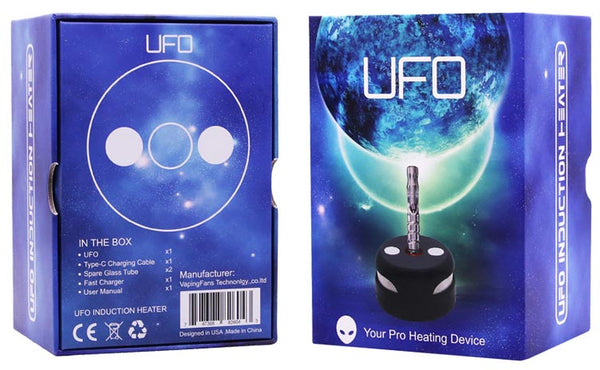 UFO Induction Heater Box front and back NZ