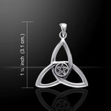 Celtic - 3 Point Trinity/Triquetra Pentagram Silver Pendant - 30% OFF - Helenskinz Online NZ