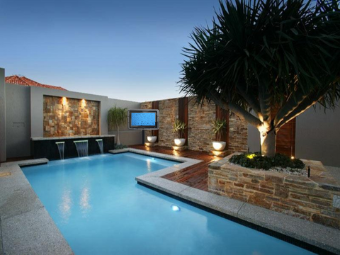 TV Enclosure Residential Series By Pool