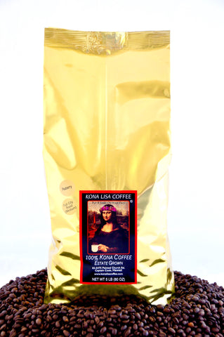 Peaberry, Full City (medium) roast, Whole Bean (5lb)