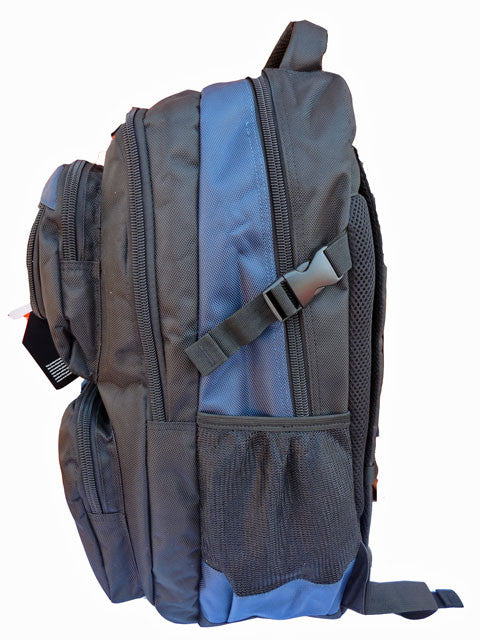 Laptop MacBook Backpack Bag RL13 Navy Side SView