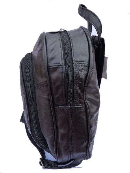 Leather Backpack Rucksack Ladies Womens QL948 side view