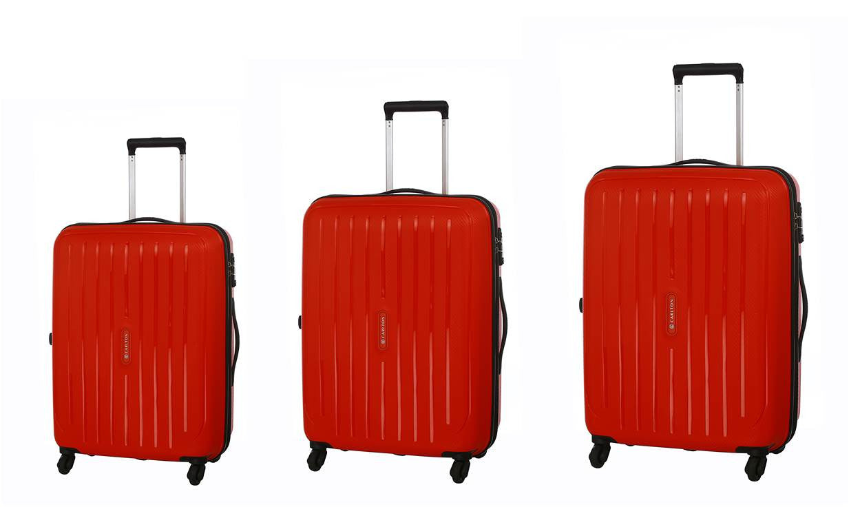 Carlton Phoenix Luggage Set Red