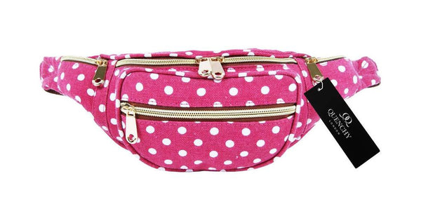 Festival Holiday Bumbag in pink polka dot Print Q4152P