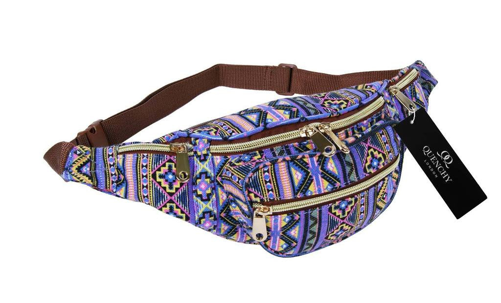 Festival Holiday Bumbag in pink tribal aztec Print Q4154P
