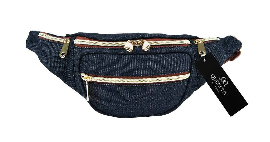 Festival Holiday Bumbag in black denim cloth Q4156K