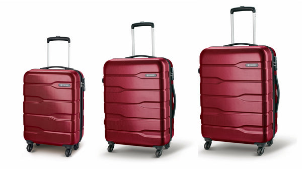 Carlton Cayenne Luggage Set of 3 Cherry Red