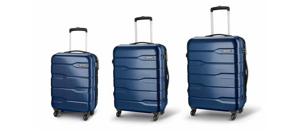 Carlton Cayenne Trolley Case Set Midnight Blue