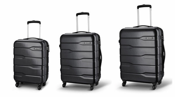 Carlton Luggage Set of 3 or SINGLE Suitcases – Trolley Case Sets or Single Cases CAYENNE – 4 Wheel Spinners