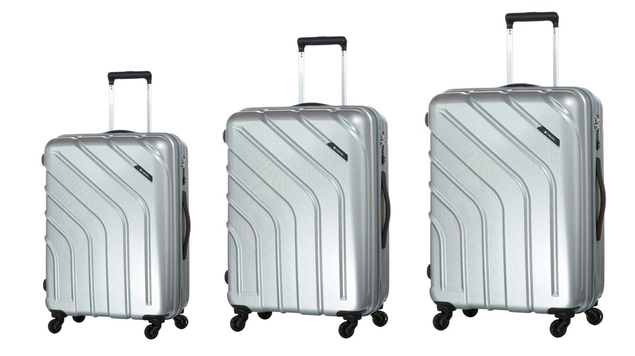 Carlton Stellar Luggage Set of 3 Silver