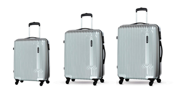 Carlton Tube Luggage Set of 3 Silver