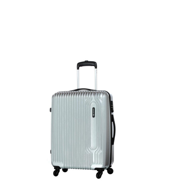 Carlton Tube Trolley Luggage 55cm Silver