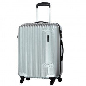 Carlton Tube Trolley Luggage 75cm Silver