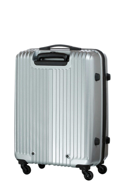 Carlton Tube Trolley Luggage Silver Back View