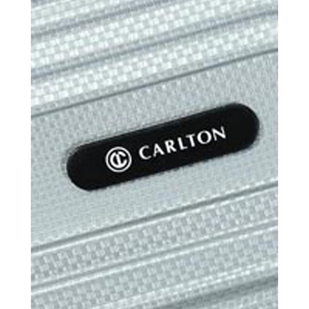 Carlton Tube Trolley Luggage Silver Logo View
