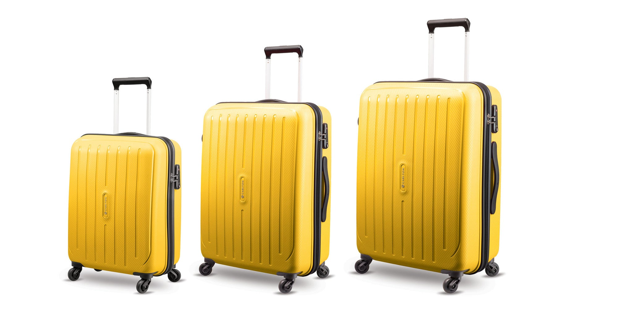 Carlton Phoenix Luggage Set Yellow