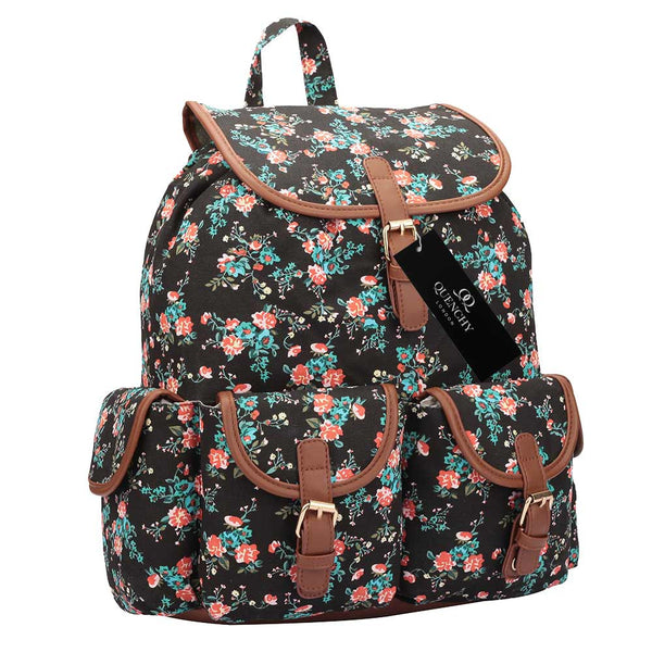 15 COLOURS Canvas Backpack Rucksack - Girls Ladies Womens QL8 Series - 7Bags 177b93c84