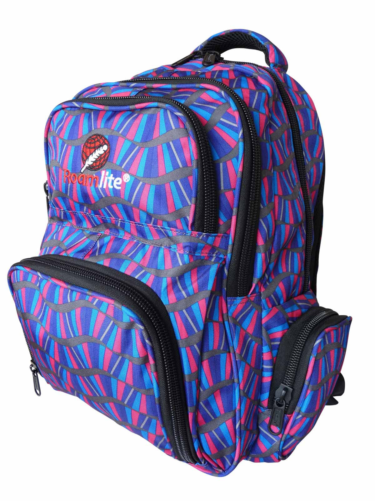 School Backpacks Bags RL88S Purple Stripes