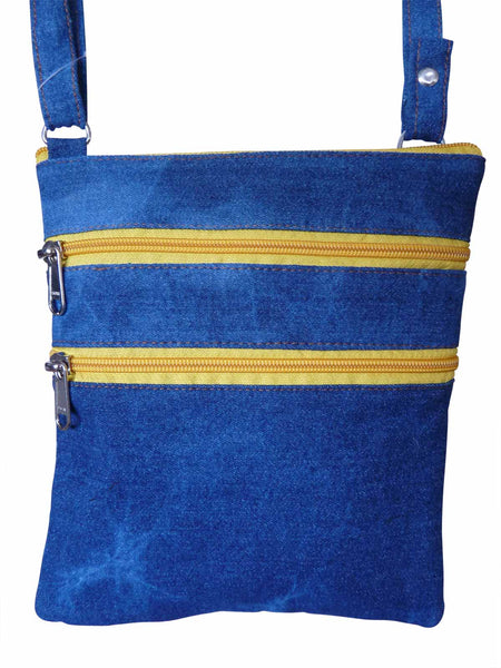 Small Soft Blue Denim Cloth Travel Bags - Ladies, Man Bag Pouch RL178DM