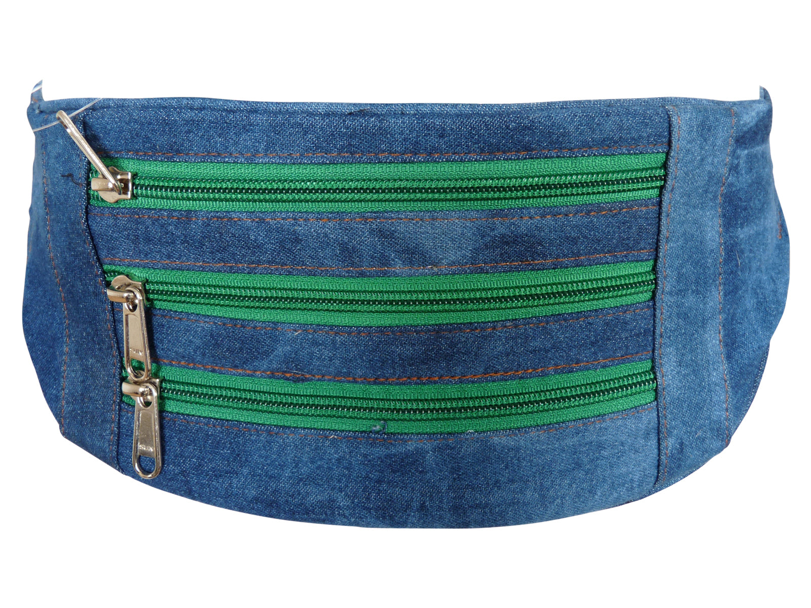 Flat Denim Bumbag RL252DDGZ dark green zips