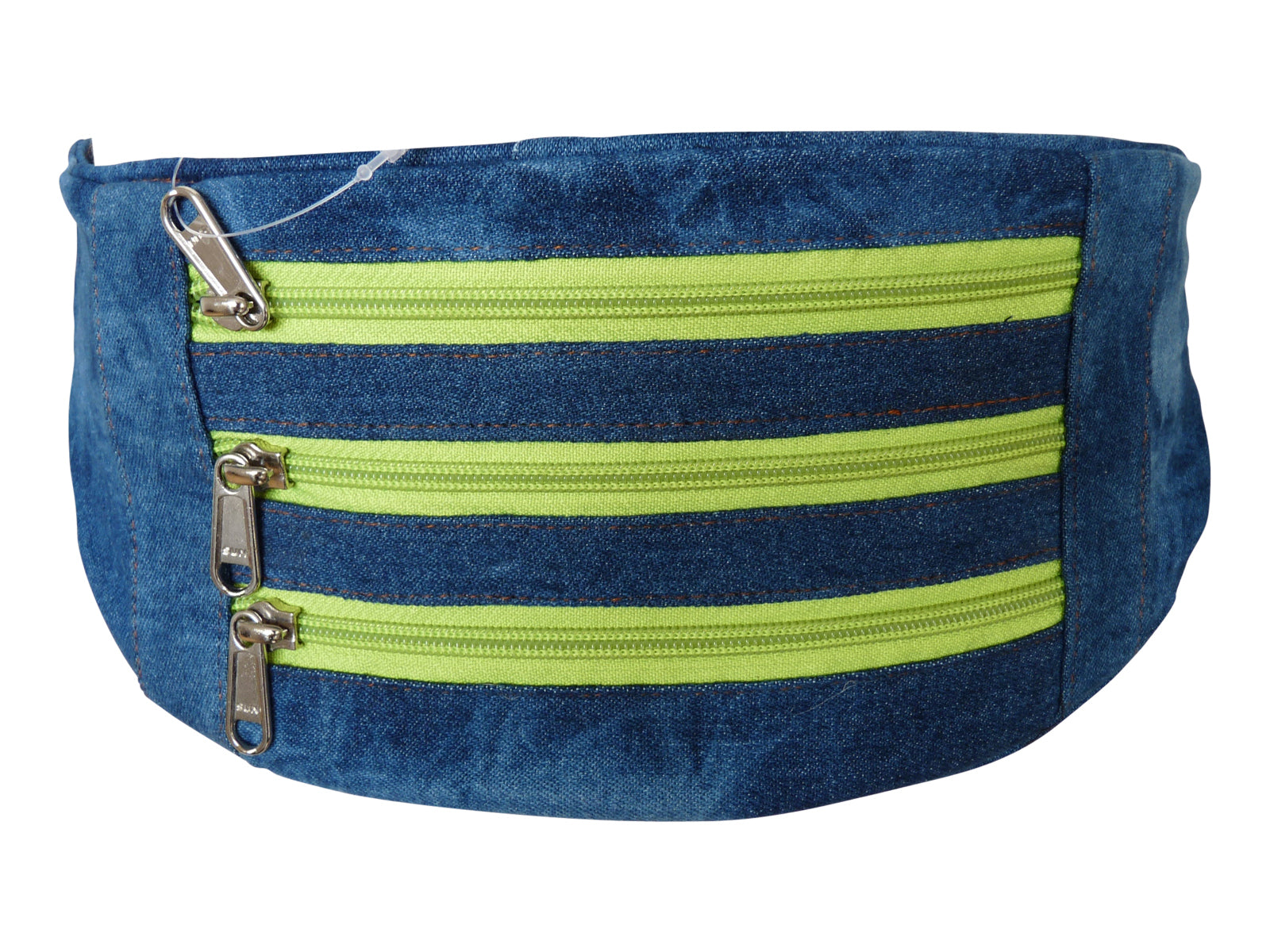 Flat Denim Bumbag RL252DLGZ light green zips