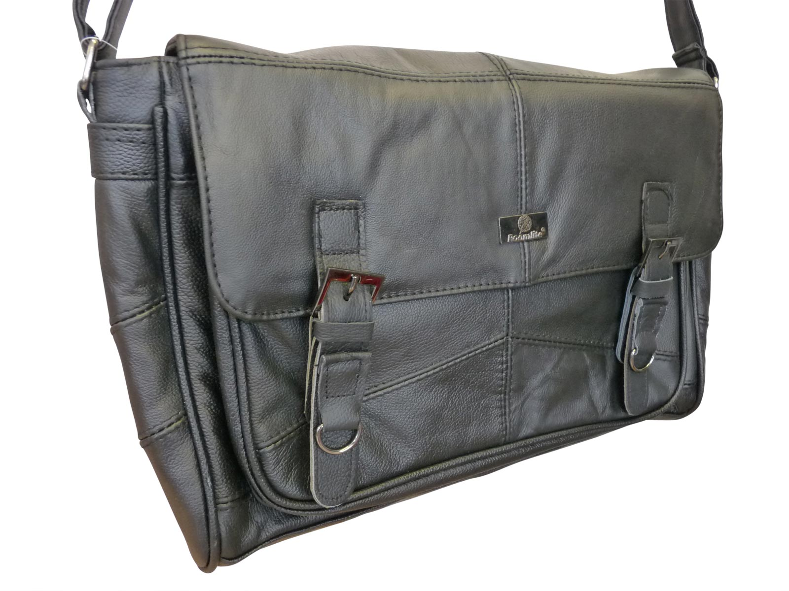 Leather Messenger Bag angle RL753