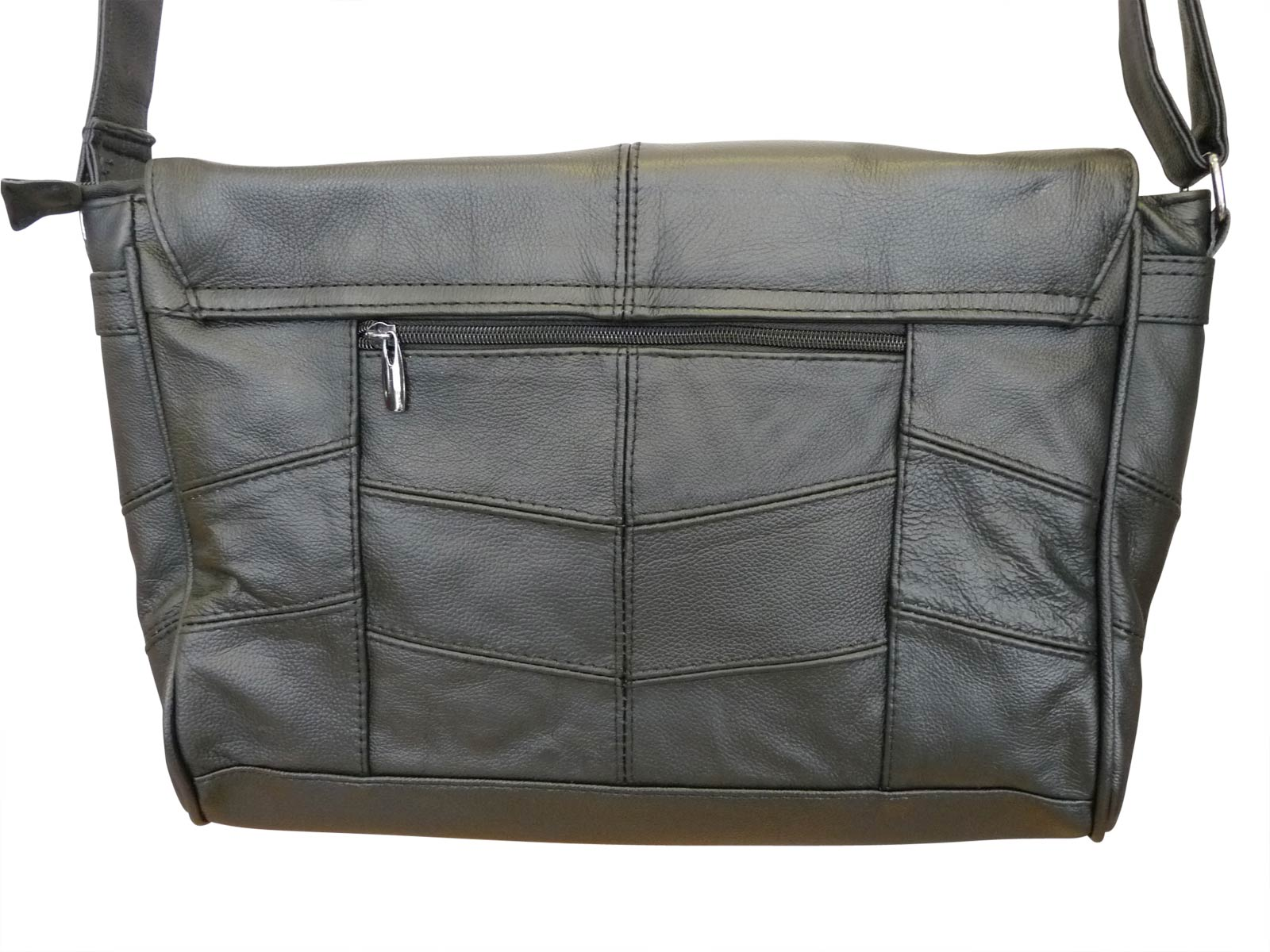 Leather Messenger Bag back RL753