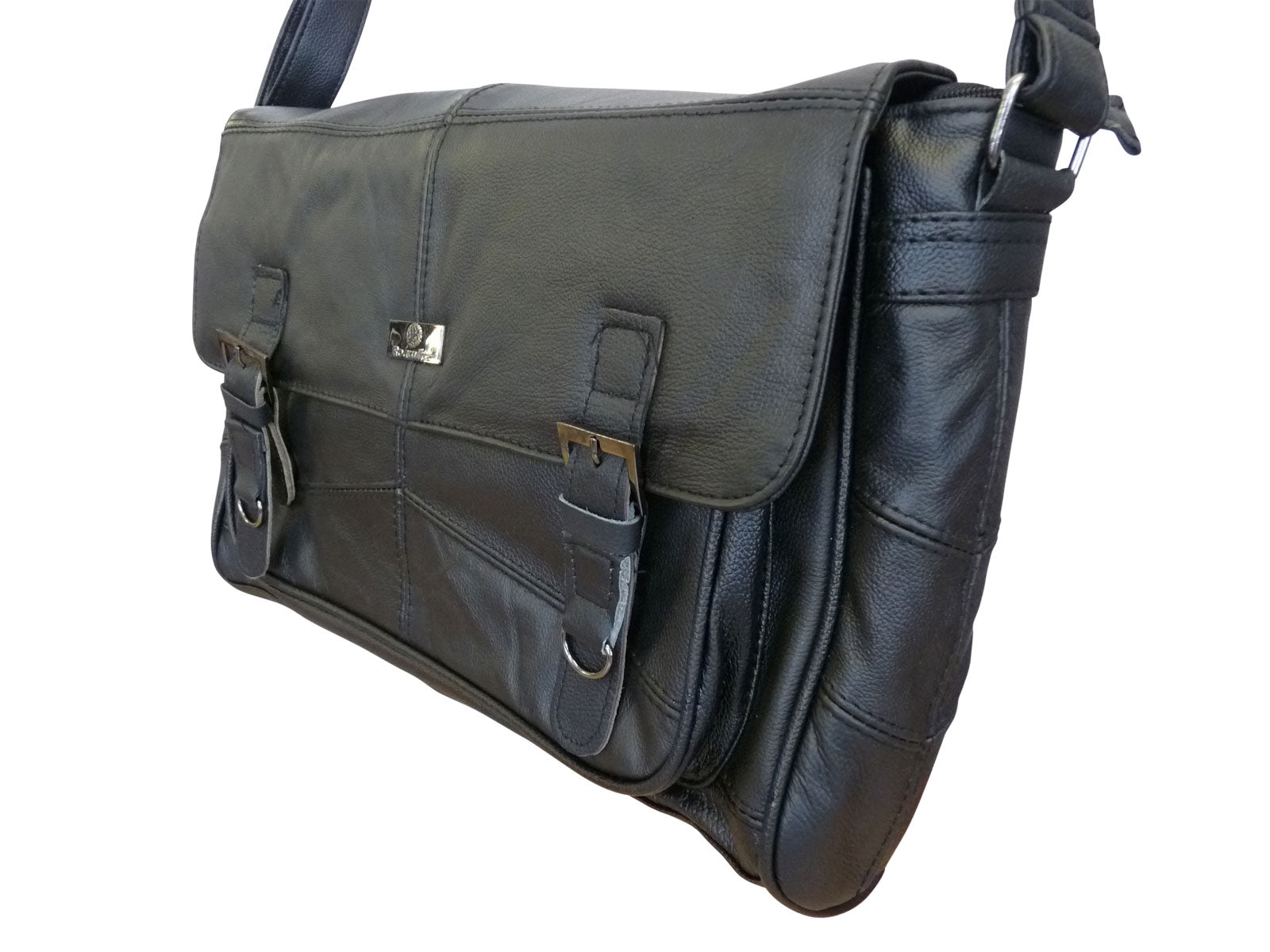 Leather Messenger Bag angle2 RL753