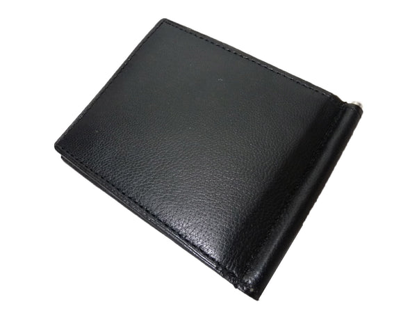 Leather Money Clip RFID Blocking Wallet RL192K closed view2