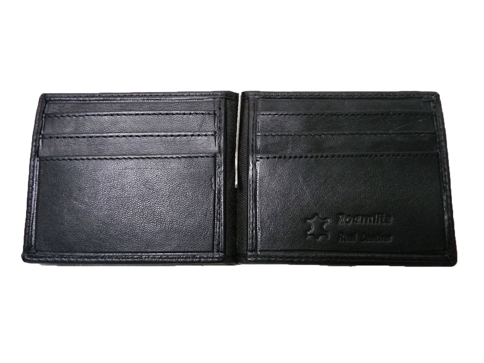 Leather Money Clip RFID Blocking Wallet RL192K open view2