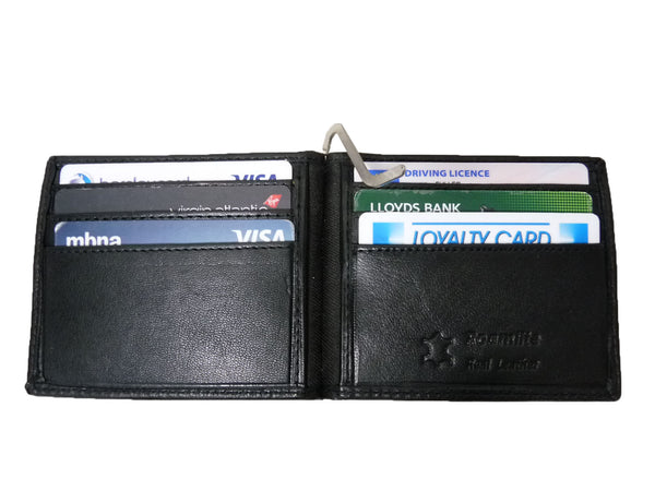Leather Money Clip RFID Blocking Wallet RL192K open view4
