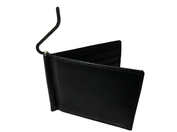 Leather Money Clip RFID Blocking Wallet RL192K clip view2